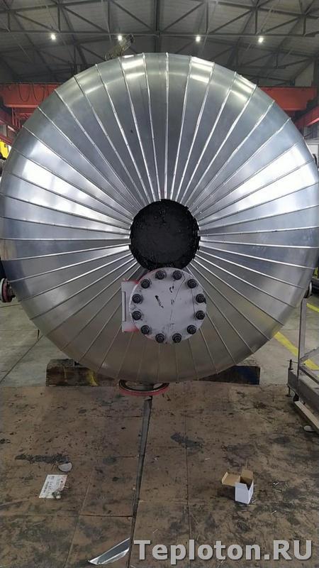 Теплоизоляция оборудования и сферических днищ