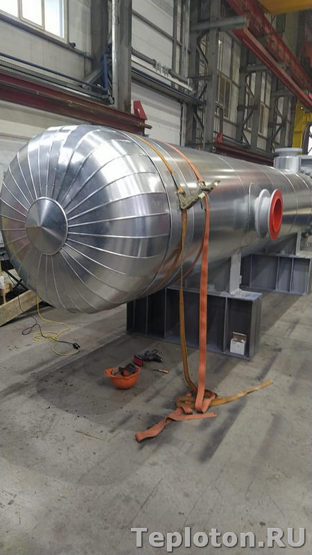 Теплоизоляция оборудование в процессе
