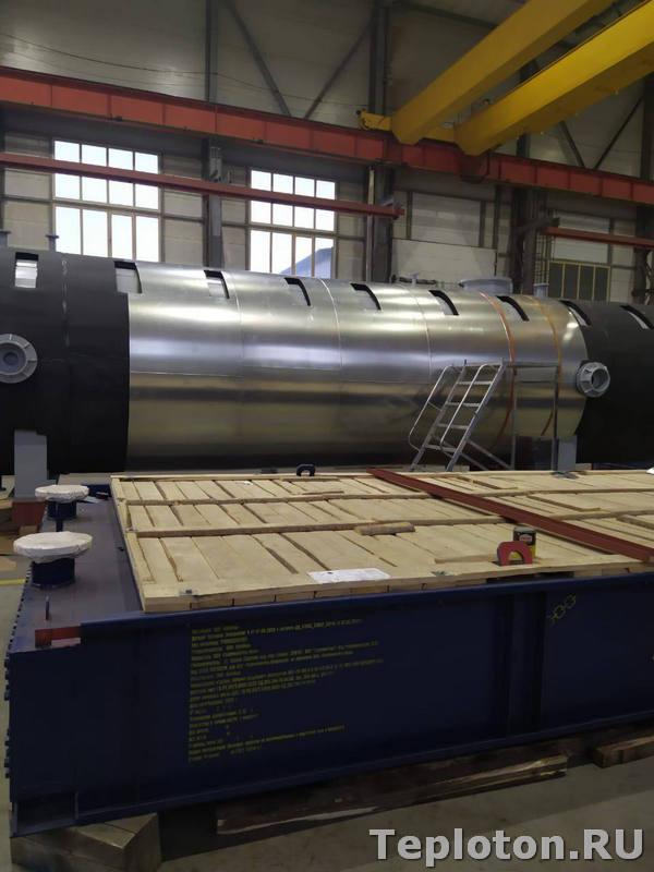 Теплоизоляция оборудования - металлопокрытие изоляции цилиндрической части