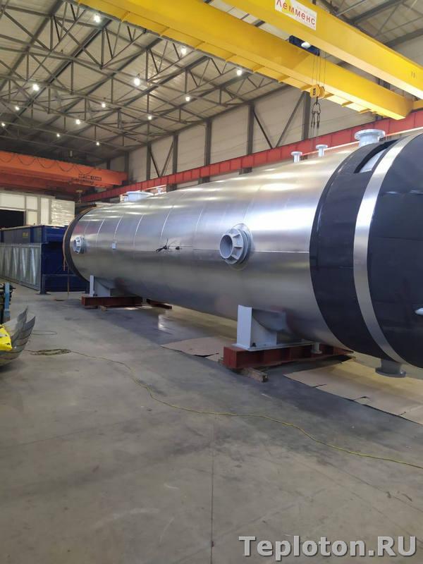 Теплоизоляция оборудования - заключительная стадия