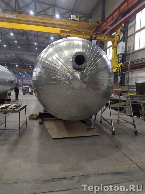 Теплоизоляция оборудования - торосферическое днище емкости