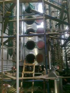 Монтаж теплоизоляции технологического оборудования маслоцеха