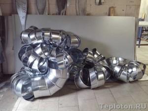 Покрытие изоляции оцинкованным металлом
