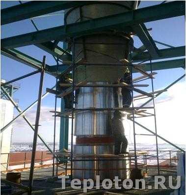 Изоляция циклона в Татарстане